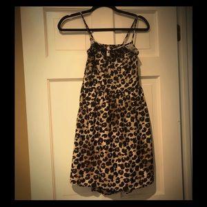 Target leopard print dress XS NWT